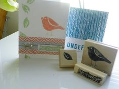 I made these stamps using the Stampin' Up! Undefined stamp carving kit!  By Erin Cook with Artsy Acorn Designs