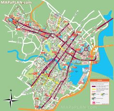City centre must-see places to visit detailed street travel plan Singapore top tourist attractions map