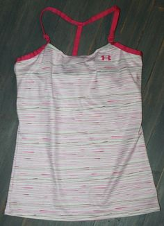 ed41c943aee7d4 Women s Under Armour Jet Print Tank White Pink Yoga Running Size Small  Racerback  Underarmour