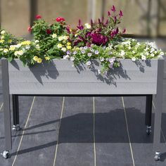 Made in Canada from sustainably sourced Canadian Spruce, this sturdy, back-saving elevated planter is fitted with four powder-coated aluminum legs. White Flower Farm, Phillips Screwdriver, Self Watering, Irrigation, Growing Vegetables, Safe Food, Shrubs, Perennials, Vines