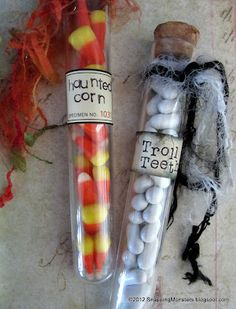 Snapping Monsters: Tutorials: Halloween Test Tube Treats