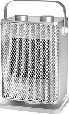 Insignia™ - Oscillating Ceramic Heater - Silver