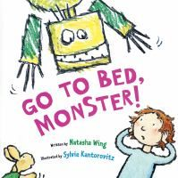 Go to Bed, Monster! by Natasha Wing. Lucy isn't ready for bed and draws a monster to keep her company. Unfortunately, she gets tired before he does. This is a really cute story and so fun to read. Preschool and up.
