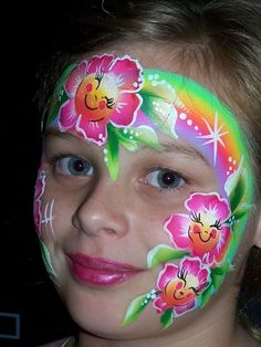 cute flowers face painting ideas for kids by kathy