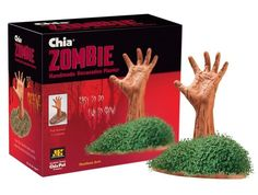 Chia Zombie arm- I found these at Rite Aid- LOVE! Good idea for game winners...