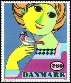 Bjorn Wiinblad stamp