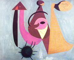 Joan Miró - Personnages dans la forêt incendiée - 1931