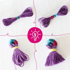 Whether you're a beginner or beyond, our weaving, cross stitch, embroidery and needle felting craft kits contain the materials and instructions you need to make your own creative project. Diy Embroidery Thread, Embroidery Kits, Diy Tassel, Tassels, Needle Felting Kits, Craft Kits, Craft Ideas, All The Colors, Make Your Own