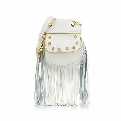 Chi by Falchi Leather Crossbody with Knot Detail