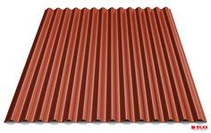 Culoare tabla cutată t18 sinus - Roșu maroniu