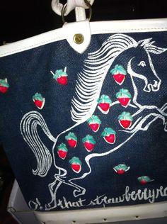 "Rare Enid Collins of Texas ""O! That Strawberry Roan!"" Horse Bucket Bag Purse #EnidCollins #BucketBag"