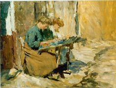 Dentellières 'Jan' Marie Adriaan van Anrooy (Zaltbommel 1901-1988 Geldermalsen)  -  Art Gallery Simonis y Buunk Ede (Holanda).