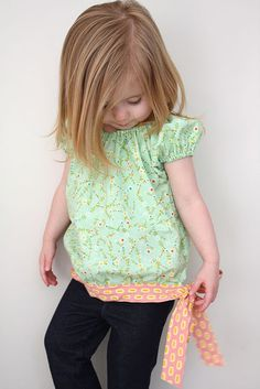 Peasant top, I love the tie :).  My nieces would look so cute in this!