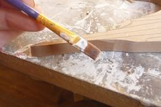 TIP: Because the MDF board is very thin and fine, its likely that the edges or tips will break while your working on the frame. I advise you to paint the tips with PVA diluted with a little water. This will strengthen up the corners and they wont break off or damage as quickly..! Seriously it will help you.