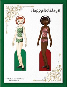 Paper Doll School: Happy December! It's time for my daily December dolls. Grab the doll & outfits every day of the month!