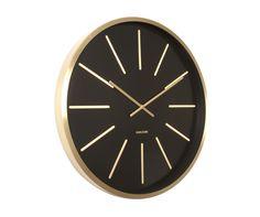 Zegar ścienny Mexiemus brass station black by Karlsson