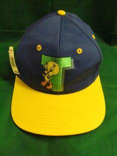 0d2ee4f428b VTG TWEETY BIRD snapback hat baseball NWT Looney Tunes cap Rare Hat Six  Flags  LooneyTunes  BaseballCap