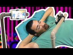 PVC PASSO A PASSO: Como fazer um suporte para usar o Smartphone deita...