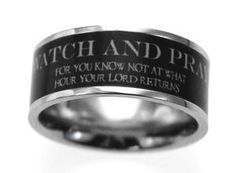 Scripture Band - Mens Watch and Pray