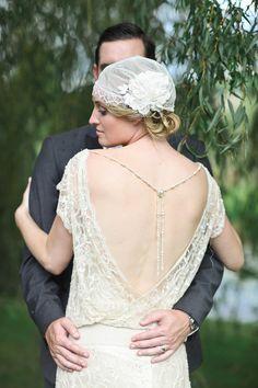 Wedding Trends: The Backless Wedding Dress - Wedding Dresses - Zimbio Wedding Dresses Nyc, Gatsby Wedding Dress, Roaring 20s Wedding, Great Gatsby Wedding, 1920s Wedding, Backless Wedding, Art Deco Wedding, Dream Wedding, Bella Wedding