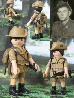Custom Playmobil Soldado Australiano WWII / Australian Soldier WWII