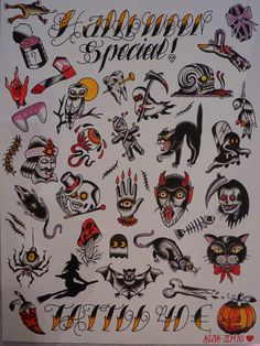Halloween Special Tattoo Designs