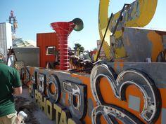 Inside the Neon Museum Boneyard, Vegas.