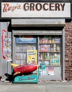 """Artist Randy Hage replicated in miniature the """"mom and pop"""" shops of NYC."""