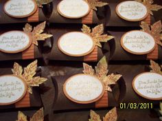 Give Thanks place cards by auntie beaner - Cards and Paper Crafts at Splitcoaststampers