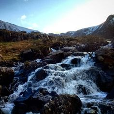 The Ogwen Falls #cwmidwal #ogwenvalley #waterfall #wales #snowdonianationalpark #snowdonia #northwales #mountains #valley #cold #glyders #glyderau