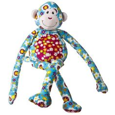 """Mary Meyer Print Pizzazz ZazzyLegs Monkey 25"""" by Mary Meyer. $21.18. From the Manufacturer                Print Pizzazz ZazzyLegs plush friends have long, floppy arms and legs. Embroidered eyes. Soft, huggable velour fabric made exclusively for Mary Meyer. Mixed prints and bold colors make Print Pizzazz perfect for girls, tweens and fashionistas of any age. Whether for your own little one, to give as a gift, or to keep yourself, Mary Meyer is always the perfec..."""