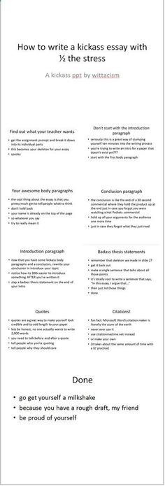 How to write a kickass essay. Literally, the best powerpoint ever created.