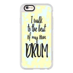 iPhone 6 Plus/6/5/5s/5c Case - I Walk to the Beat of my Own Drum White... ($40) ❤ liked on Polyvore featuring accessories, tech accessories, iphone case, iphone hard cases, iphone cover case, white iphone case and apple iphone cases