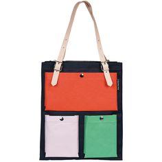 Toimi laukku, tummansininen /v�rik�s