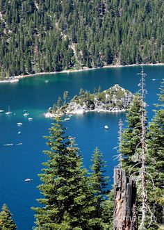 ✯ Emerald Bay - Lake Tahoe...yes....it's this beautiful.  Please promise yourself to get a chance to see her beauty.