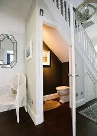 Checkout These Understairs Creative And Practical Space Ideas. Here are ideas for space under stairs. A hidden laundry. The DIY creating a walk in pantry with extra shelves for better organization. Or an extra closet for the spare bathroom. Closet Under Stairs, Space Under Stairs, Bathroom Under Stairs, Toilet Under Stairs, Bathroom In Basement, Kitchen Under Stairs, Under Stairs Cupboard, Narrow Bathroom, Simple Bathroom