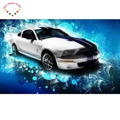 [Visit to Buy] Diamond painting Super fantasy sports car cross stitch mosaic painting Full drill round diamond embroidery cross stitch  #Advertisement