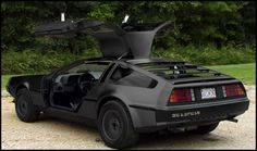 Matte Black Vinyl Wrapped DeLorean by BRADBRUNETTE