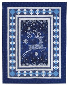 Additional Images of Reindeer Sparkle Quilt Kit by Upper Canada Quiltworks - ConnectingThreads.com