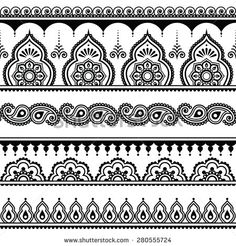 Find Mehndi, Indian Henna tattoo seamless pattern, design elements Stock Images in HD and millions of other royalty-free stock photos, illustrations, and vectors in the Shutterstock collection. Henna Motive, Henna Tattoo Muster, Tattoo Henna, Muster Tattoos, Henna Tattoo Designs, Henna Art, Maori Tattoos, Tattoo Ideas, Henna Designs Drawing