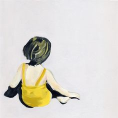 Girl in yellow suite