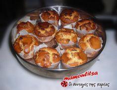 Νηστίσιμα μάφινς με σταφίδες. Στους φούρνους τα λένε συνήθως σταφιδόψωμα.