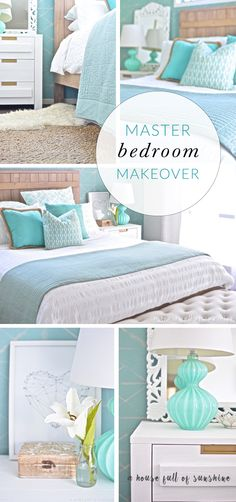 My goodness - this bedroom makeover is dreamy! So many pretty details. | A house full of sunshine