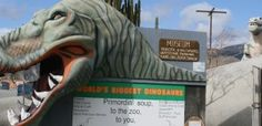 Cabazon Dinosaurs is a Photo Op in Cabazon. Plan your road trip to Cabazon Dinosaurs in CA with Roadtrippers. Cabazon Dinosaurs, California Usa, Roadside Attractions, Vacation Trips, Vacation Ideas, History Museum, Public Art, Photo Art