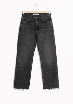 & Other Stories image 1 of Raw Edge Denim Jeans in Black