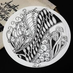 Zentangle 020317. All artworks are from Rebecca Kuan -