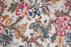 Vintage Floral Fabric. $10.00, via Etsy.