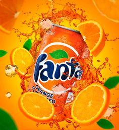 Fanta on Behance Fruit Drinks, Cold Drinks, Advertising Pictures, Fanta Can, Coca Cola, Are You Happy, Soda, Food And Drink, Layout Design