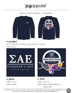#sae #sigmaalphaepsilon #foundersday Paddy Murphy, Fraternity Rush Shirts, Sigma Alpha Epsilon, Bid Day Shirts, Founders Day, Custom Design Shirts, Comfort Colors, White Ink, T Shirt