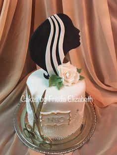 Birthday cake for a hairdresser/hair stylist.